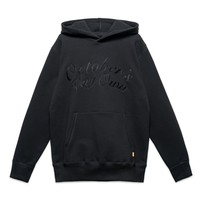 OCTOBER SCRIPT HOODY - BLACK
