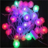 4M 20 LED Snowflake Outdoor Navidad XMAS Fairy String Garland Christmas Tree Decorative Colorful New Year Light