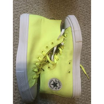 Lime chuck Taylor's all star converse ll New sz11