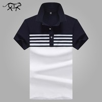New 2018 Brand POLO Shirt Men Cotton Fashion Patchwork Camisa Polo Men Summer Short-sleeve Casual Lapel Men's Shirts jerseys 4XL