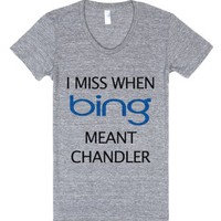 Chandler Bing-Unisex Athletic Grey T-Shirt