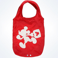 disney parks TAG collection mickey red fold-up tote bag new with tags
