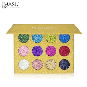 Eyeshadow Pigment Palette Pressed Glitter Injections 12 Colors Eye Shadow Pallete Nude Makeup Shimmer Powder