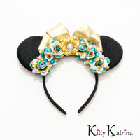 Princess Jasmine Mouse Ears Inspired Headband, Princess Jasmine Dress, Princess Jasmine Costume, Princess Jasmine Birthday Party, Disneyland