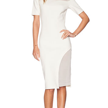 ADDISON Eva Dress in Ivory