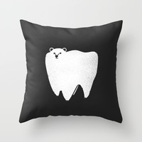 Molar Bear Throw Pillow by Zach Terrell