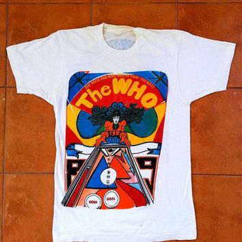 ON SALE Vintage Vtg THE Who The Kids Are Alright Tour 1989 80's Concert Punk Rock Mod T shirt