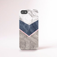 Marble Print iPhone 5 Case Print Marble iPhone 6 Case Samsung S5 Case Wood Print iPhone 4 Case Gorgeous iPhone Cases Navy and Marble Print
