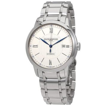 Baume et Mercier Classima Silver Dial Stainless Steel Automatic Mens Watch