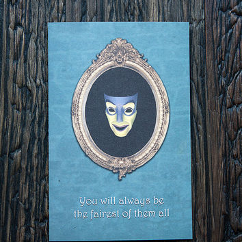 Stepmother Card Mirror Fairest Snow White Evil Funny