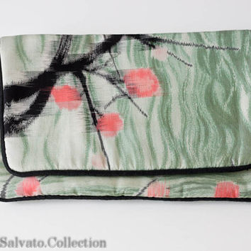 Hand Painted SILK Couture Designer Clutch Purse