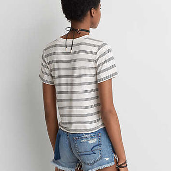 AEO Soft & Sexy Shrunken T-Shirt , Cream