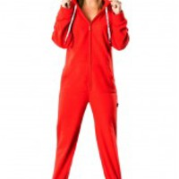 Hoodie Footed Pajamas - Adult Onesuit One Piece PJs