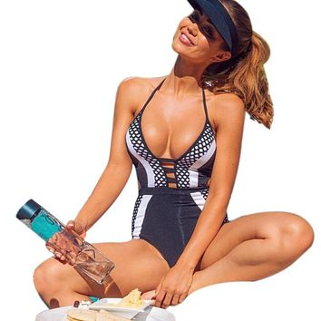 New Women One Piece Swimsuit Swimwear Bathing Push Up Padded Bikini Beachwear Swim wear Beach Bikini