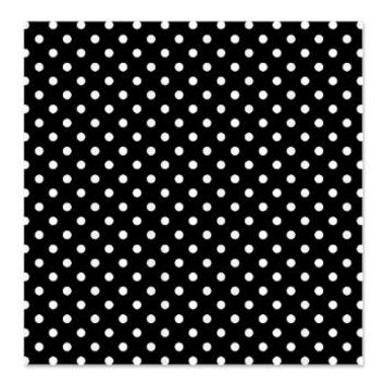 Black with white polka-dots Shower Curtain> Black With White Polka-dots> KCavender Designs