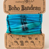 Boho Bandeau by Natural Life in Turquoise Tie Dye