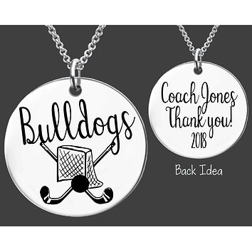 Field Hockey Coach Necklace | Personalized Coach Necklace