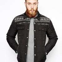ASOS Jacket In Quilted Fabric - Black