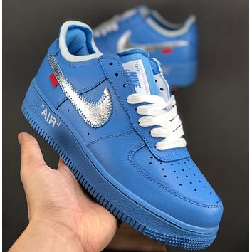 Off-White xNIKE  Air Force1 AF1 Men and women's shoes