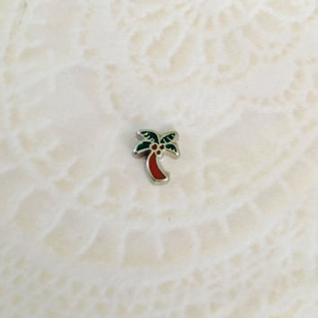 Palm tree floating charm for memory locket