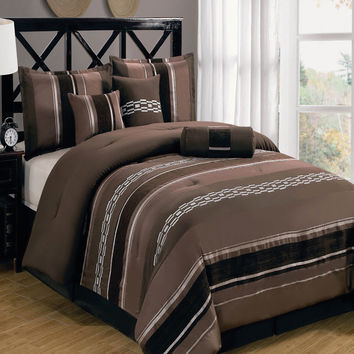 Claudia Coffee 11-Piece Comforter Set
