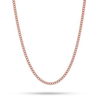3mm, Rose Gold Miami Cuban Curb Chain