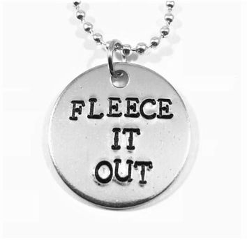 The Office Hand Stamped Darryl Philbin Fleece It Out Aluminum Necklace