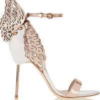 Sophia Webster - Evangeline metallic and patent-leather sandals