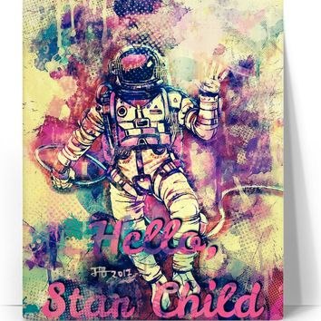 Hello, Star Child Canvas Print