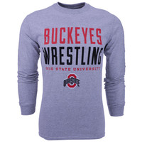 J America NCAA Wrestling Stacked Long Sleeve T-Shirt