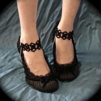 Tatted Shoe Jewelry - Quadra