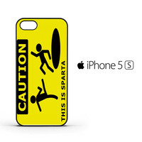 Funny Caution This is Sparta F0030 iPhone 5 | 5S Case