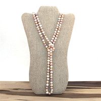 Endless Pearl Necklace - Multicolor