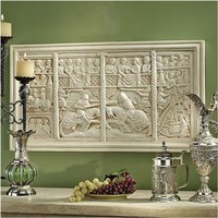 SheilaShrubs.com: The Medieval Joust Sculptural Wall Frieze CL5437 by Design Toscano: Wall Sculptures