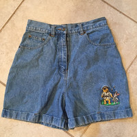 Vintage 90's Disney Winnie the Pooh High Waisted Shorts 25/small high waist piglet