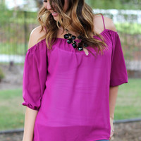 My Oh My Magenta Top