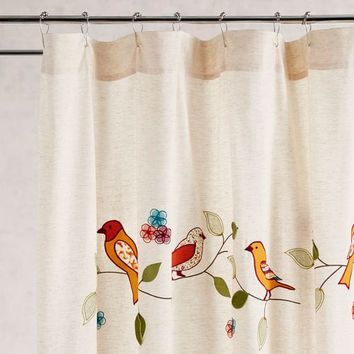 Birds on a Branch Shower Curtain