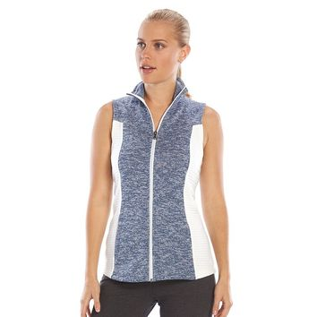 Tek Gear Textured Fleece-Lined Mockneck Vest - Women's, Size: