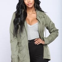 Put Up A Fight Jacket - Olive