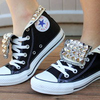 Pyramid Studded All Star Converse Shoe