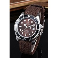 Rolex Popular Ladies Men Quartz Watches Wrist Watch Coffee I
