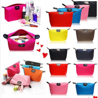 Elegant Lady Travel Make Up Cosmetic Pouch Bag Clutch Handbag Casual Purses Multi-colors = 1958077636