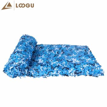 LOOGU E 1.5M*4M Blue Camo Netting Snow White Camouflage Netting Sun Shade Camo Net Military Army Camouflage Netting