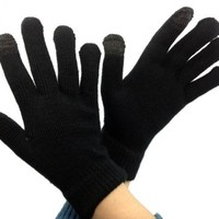 Itouch Touchscreen Glove for Men - No Embroidery Black Fingertips - Large Size