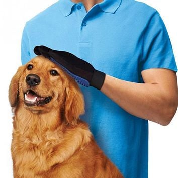 Silicone True Touch Deshedding Brush Glove Pet Dog Cat Gentle Efficient Massage Grooming Pets Hair Cleanup