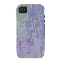 Waves of Green and Purple iPhone 4/4S Case