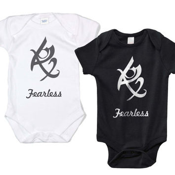 Fearless Runes Shadowhunters The mortal instrument Infant Lap Shoulder Creeper Onesuit