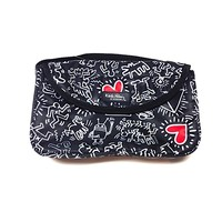 Keith Haring – Keith Haring Graffiti Baby's Diaper Bag In Black | Thirteen Vintage