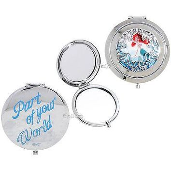 Licensed cool Disney Ariel The Little Mermaid Die-Cut Compact Mirror Part of Your World NEW