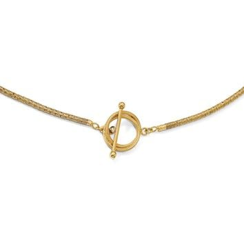 Leslies Sterling Silver Gold-plated D/C Toggle Bracelet/Necklace